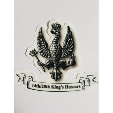 14/20th Kings Hussars Shaped sticker