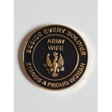 Wives Pin Badge
